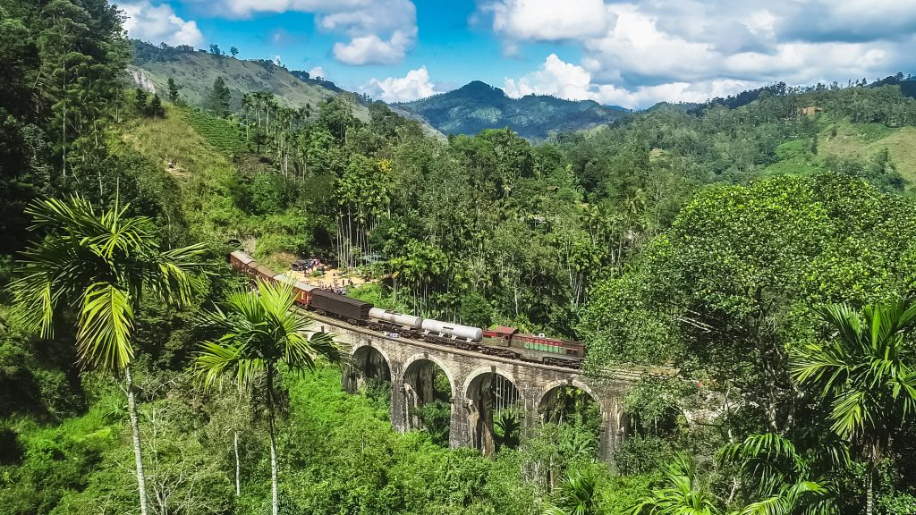pont aux neuf arches de Demodara. Ella, Sri Lanka
