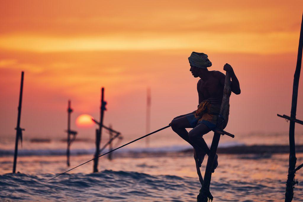 Pêche traditionnelle au Sri Lanka