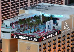 Las Vegas Night Club sur un toit