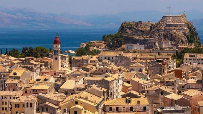 Ile de Corfou en Grèce