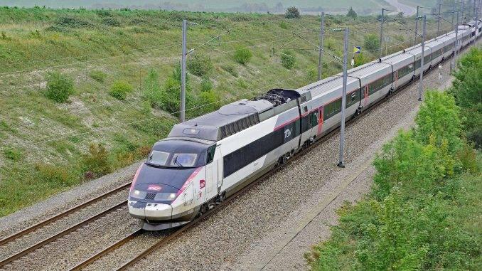 Rame TGV en circulation