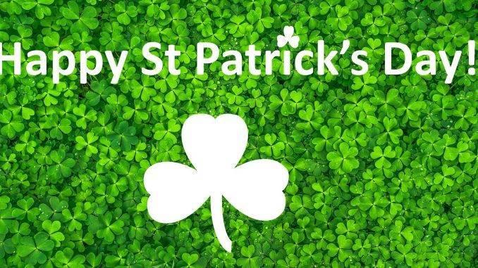 Joyeuse St Patrick sur fond de trèfles