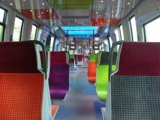 Intérieur d'un train vide