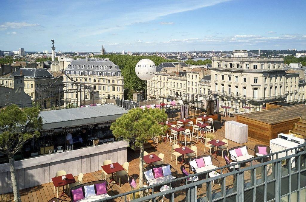 Le bar Rooftop de l'InterContinental Bordeaux