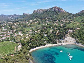 Vue aérienne de Cassis