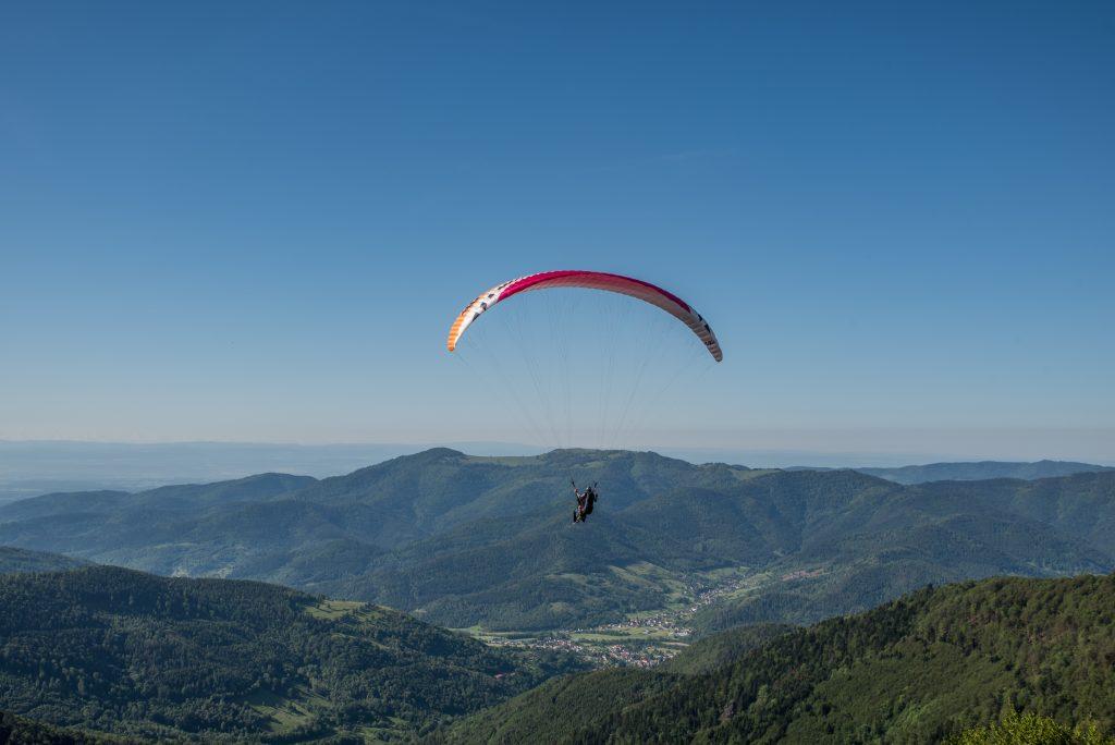 Parapente dans les Hautes Vosges