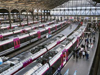 Trains à la gare St Lazare